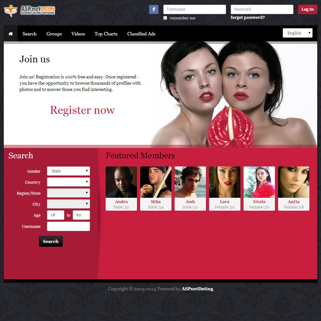 Dating Software Girls Theme Demo Site