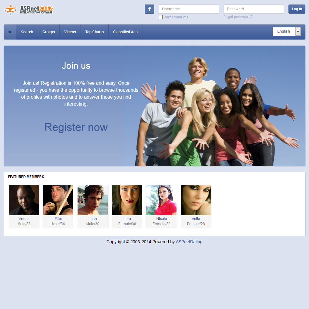 Dating Software Social2 Theme Demo Site