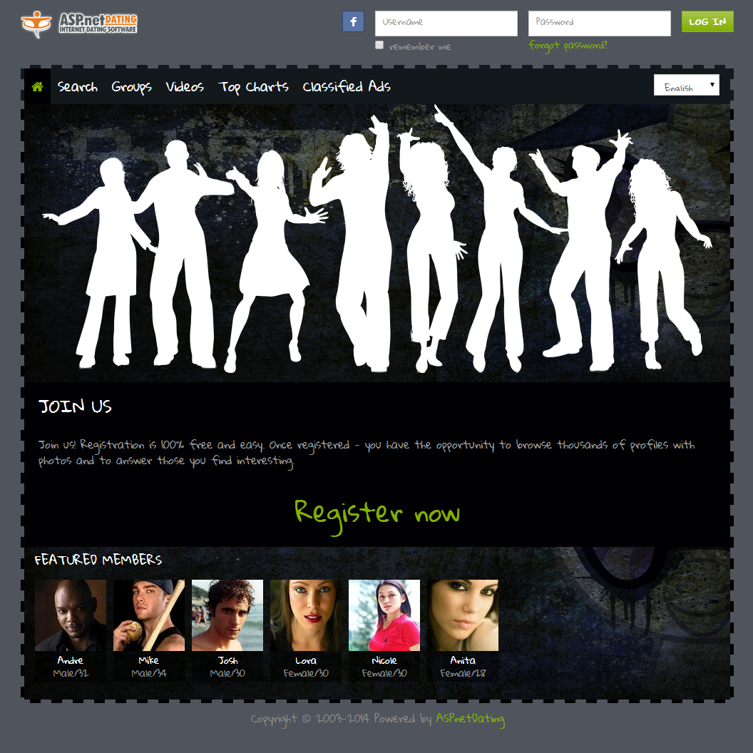 Dating Software Urban Theme Demo Site